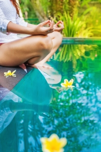 meditating woman abstract faceless photo